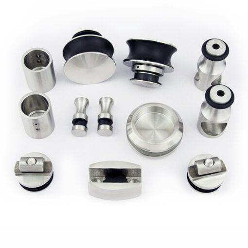Набор для раздвижной стеклянной душевой перегородки (под круглую трубу) CC1005, для стеклянной раздвижной (откатной) двери