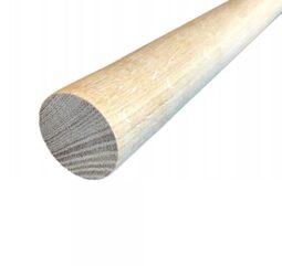 Поручень круглый деревянный, дуб, некрашеный, ⌀50 мм