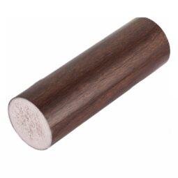 Поручень ПВХ пластиковый круглый ⌀49 мм, длина 4 м, венге с текстурой