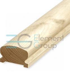 Фигурный поручень деревянный 45x75 мм, кавказский дуб, 4 метра