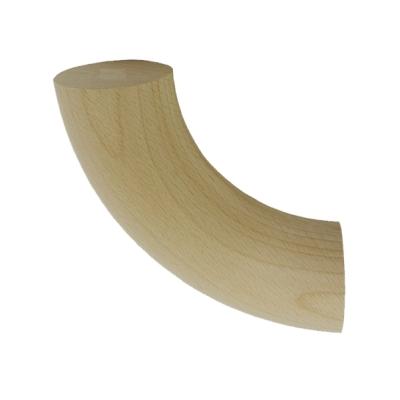 Поворот (отвод) круглого поручня ⌀50 мм, дуб